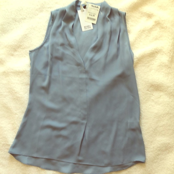 Rose & Olive Tops - Light blue sleeveless blouse